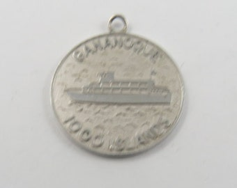 Gananoque 1000 Islands Sterling Silver Charm or Pendant.