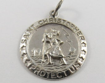 St Christopher Sterling Silver Charm or Pendant.