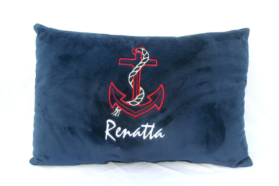 Customized Anchor Pillow with Name Underneath