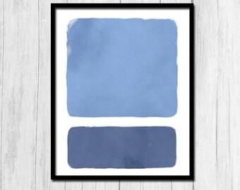 Abstract Art Printable Minimalist Art Digital Download Abstract Print Blue Print Blue Printable Abstract Printable Minimalist Printable Art