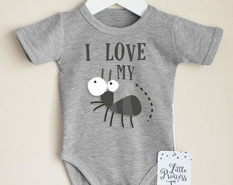 I Love My Aunt. Infant Baby Shirt.  Funny Baby Clothes. Cute Baby Gift.  Aunt Baby Shirt. Aunt Baby Clothes. Choose Your Color