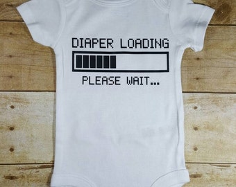 Diaper loading funny baby bodysuit baby shower gift funny baby gift