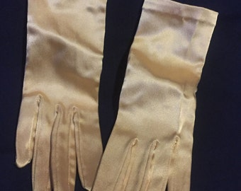 The May Co. Vintage Champagne Colored Gloves