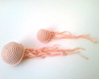 Jellyfish, Crochet Sea Creature, Crochet Jellyfish, Stuffed Animal