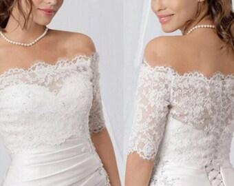 Lace bridal jacket/shrug/bolero/coverup