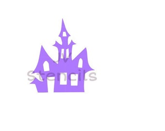 Haunted House Stencil (2pc)