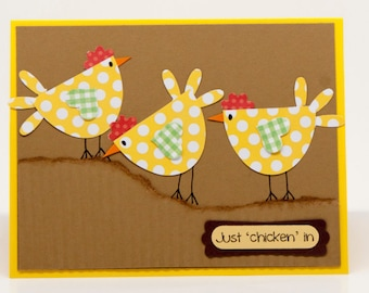 Just 'Chicken' In Card