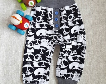 Baby Joggers Harem Pants Baby Girl Clothes Baby Boy Clothes Panda Black And White Baby Leggings Toddler Joggers