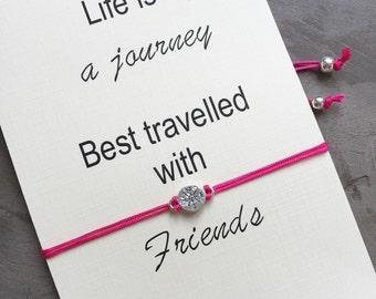 Wanderlust bracelet, Wish bracelet, Lost without you, Friendship bracelet, Best friend gift ideas, Best friend, Gift for friend,  A7