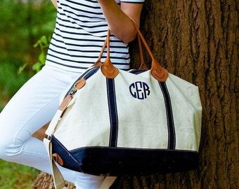FREE MONOGRAMMING, Monogrammed Weekender Bag, Personalized Overnight Bag, Weekend Travel Bag, Large Tote Bag, Carry On Bag, Genuine Leather
