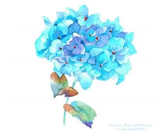 Hydrangea Wall Art hydrangea watercolor | etsy