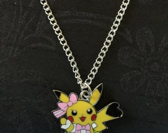 Silver Plated Nintendo Pokemon Cosplay Pikachu Pop Star Necklace