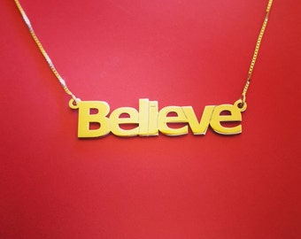 14k Name Necklace Gold Name Necklace Real Gold Name Plate Necklaces Gold Name Chain Name plate Necklace Gold Chains With Name Plates