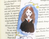 Harry Potter Bookmark - Hermione - Harry Potter Gift - illustrated