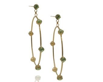 Jewelry Gift Swarovski Crystal Earrings Hollow Earrings  Hoop Earrings Everyday Earrings Gold Earrings Swarovski Earrings Bridesmaid Gift