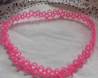 "Tattoo Choker- Pip Pink (Plain or with ""Sprinkles"")"