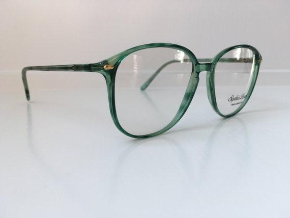 Vintage Mint Green Glasses Oversized Eyeglasses Cat Horn
