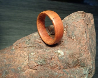 Wood ring, Wood Band Ring, Handcraft Wooden band ring, Rhododendron burl wood, Hand Made Wood Ring, Wood Ring, Burl Ring, Ring, Wood band