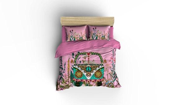 Hippie Van VW Duvet Covers Home Decor Bedding By