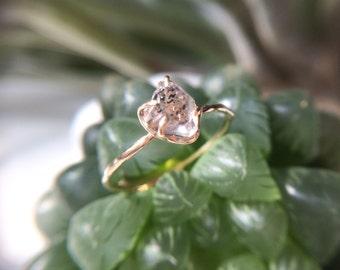 KIKY, Herkimerdiamond-type Himalayan Rough Crystal Ring.Size9(Japanese size)