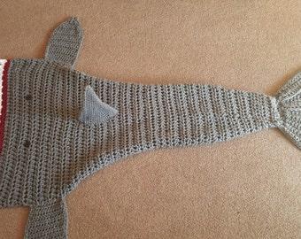 Shark crochet blanket afghan