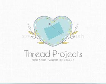 Sewing Logo Design Thread and Needle Logo Fabrics Logo Clothing Boutique Logo Crochet Logo Design