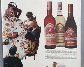 1967 Christian Brothers Wine Print Ad - Burgundy, Sauterne, Napa Rose