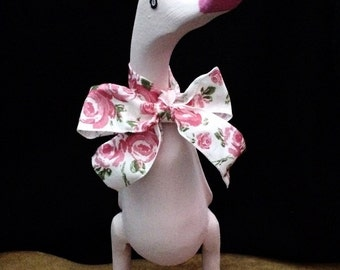 Little Pink Wooden Duck
