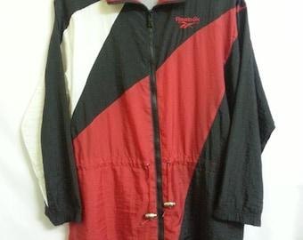 Vintage 80s-90s//Reebok//Colourblock//Windbreaker Trainer Jacket//Made In Taiwan
