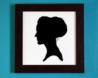 Katy Perry - Silhouette Portrait Print