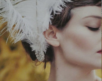 Ostrich Feather Bridal Fascinator/fan