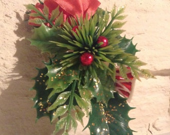 Vintage Christmas Corsage/ 1960s. Lovely
