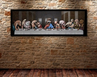 LAST SUPPER - Renaissance oil painting Art poster limited edition of 5 digital prints signed & numered.
