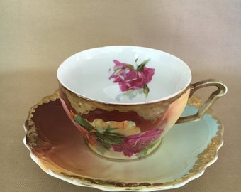 Bavarian Hand Painted Teacup - Antique