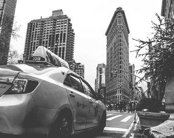 Flatiron Building Print - New York Print, Black and White Print, New York Wall Art - New York Photography Print