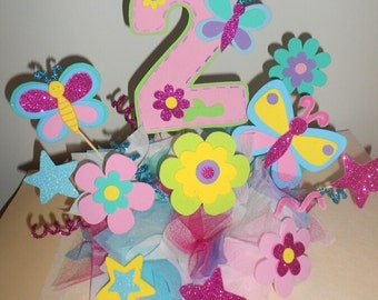 Buttlerfly ,flowers centerpiece, flowers party  decoration, buttlerfly centerpiece, 4 centerpiece, flowers and butterfly birthday party