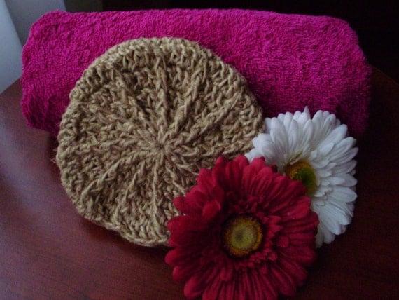 NATURAL HANDMADE  bath/shower SPONGE with Strap, crochet sponge, 100 % natural jute, gift for woman
