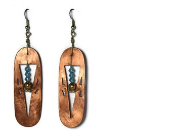 Unique Copper Thistle Earrings - One Set Only