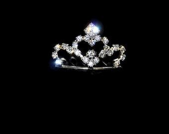 Mini Tiara - Princess Queen Rhinestone Crown