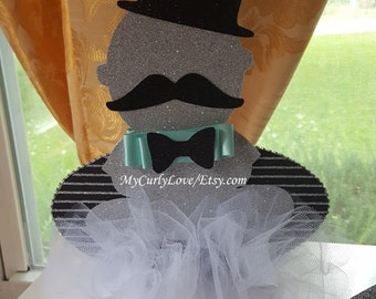 Little Man Centerpiece/Little Man Baby Shower Centerpiece/Little Man Baby Decor/Mustache Baby Shower Centerpiece/Boy Baby Shower Centerpiece