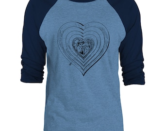Mintage  Heart of Cupid 3/4-Sleeve Raglan Baseball T-Shirt