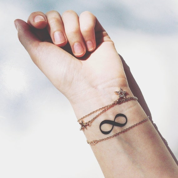 Set of 2 infinity symbol temporary tattoo pattern tattoo for How to get fake tattoos off