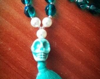 Aqua Mala Inspired Necklace