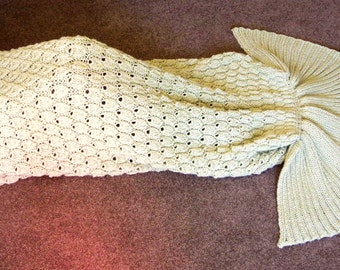 Knitting PATTERN - Mermaid Tail Blanket - Instant Download