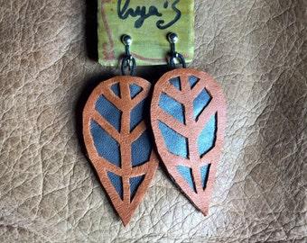 rainforest leaf earings