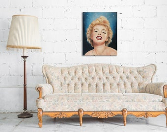 """Marilyn Monroe 16""""x20"""" Canvas prints signed by artist wall art for home decor"""