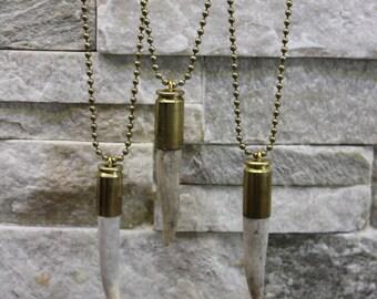 Handmade Premium Deer Antler Tip Bullet Necklace Rustic Jewelry Antler Jewelry Rustic Jewelry Statement Jewelry, Deer Antler Necklace
