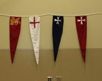 Painted Pennant Flags and Banners