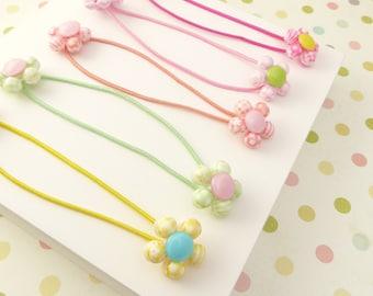 Flower hair tie for kids,Kids hair tie,kids ponytail holder,ponytail wrap,kids hair accessories,gift for kids,birthday present,