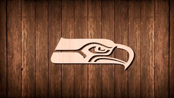 Seattle Seahawks Logo Wooden Cutout Silhouette By